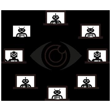 クライアントPC上で稼働するRPA製品を指示・管理